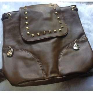 Korean Leather Backpack