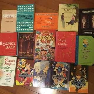 Massive book sale! 15 books for sale! More books = More discount!