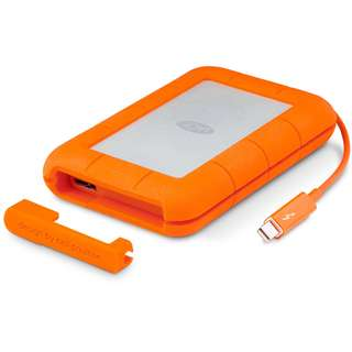 LaCie 1TB Rugged Thunderbolt Mobile External HDD USB 3.0 Portable Hard Drive (STEV1000400)