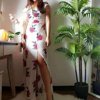 Floral Bareback Maxi Dress