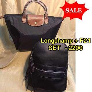 Longchamp le pliage +F21 set SALE