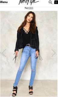 NEW Nasty Gal ripped skinny jeans