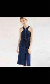 Denim zipper up Dress