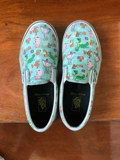 Vans Van's pixar disney toystory slip on rubber shoes