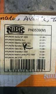 NIBK Brake Pad Kia / Hyundai