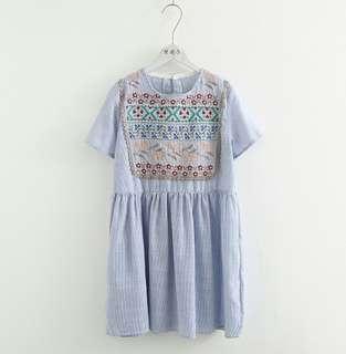 🎆全新🎆(預購)日系民族刺繡洋裝