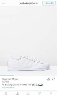 Original womens superstars size 7