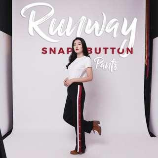 Runway snap button pants