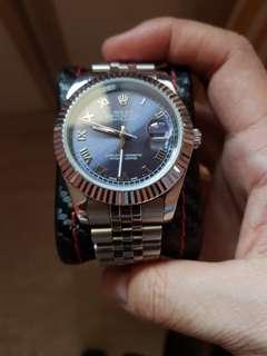 Homage used noob sunburst blue dial 41mm