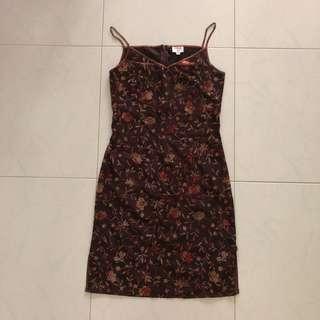 Vintage Printed Silk Dress