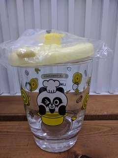 七仔Line friend pangyo 圖形鍋連蓋玻璃杯