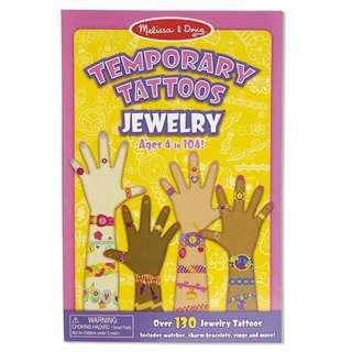 BNIP: Melissa & Doug Temporary Tattoos: Jewelry - 130+ Kid-Friendly Tattoos