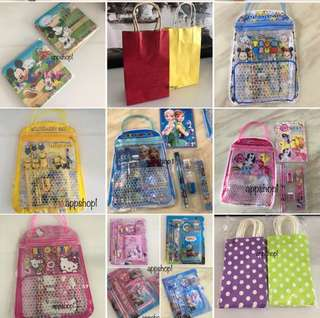 Goody bag for birthday, goodies bag packages for children