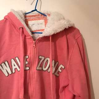 Wave Zone Pink Fluffy Hoodie