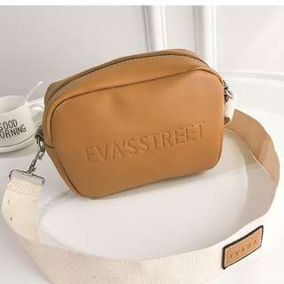 BROWN EMBOSSED SHOULDER BAG