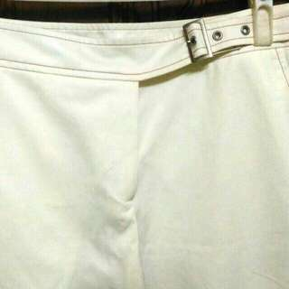 🚚 [💞全館買二送一]專櫃 白色 皮帶 寬褲 長褲