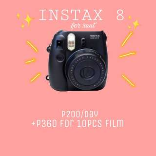 Instax For Rent