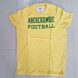 Abercrombie & Fitch Yellow T-shirt, Men, XXL (Muscle)