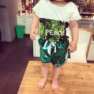 ▶2018春夏款 / ▶套裝☑潮流椰樹印花男童海灘套裝