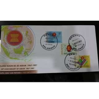 First Day Cover - Ulang Tahun Ke-30 Asean