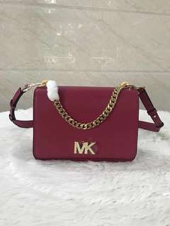 Michael Kors turnlock Leather Shoulder Bag - red