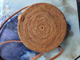 Boho Circle Rattan Bag