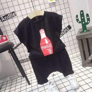 預購「7-15碼可口可樂瓶子休閒套裝童裝」
