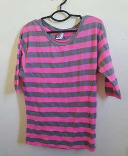 Herbench Striped Pink Top