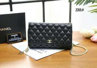 Ch Wallet on Chain Sling Bag👜  Kode 2355#
