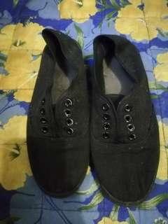 Plain black shoes