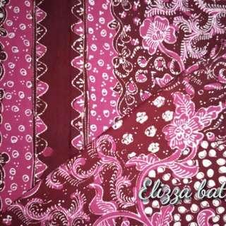 Batik Tulis Lasem Sekarjagad Warna Merah Fanta