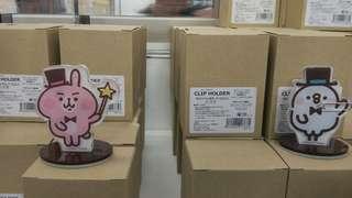 日本京都 魔術展 兔兔 kanahei p助 粉紅兔兔 萬字夾 clips stand