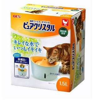 Gex Pure Crystal Fountain For Cats with Indicator 1.5L