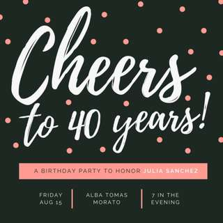 Classy personalized birthday invitations