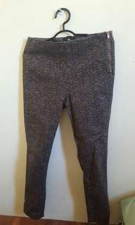 H&M Skinny Patterned Pants