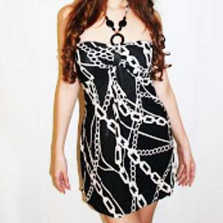 BN Halter Dress Chain Print