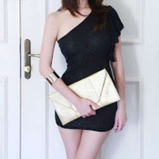 BN One Shoulder Black Glitter Top / Dress