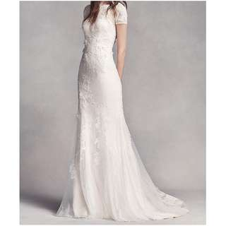 White by Vera Wang Short Sleeve Lace Wedding Gown (Brand New)