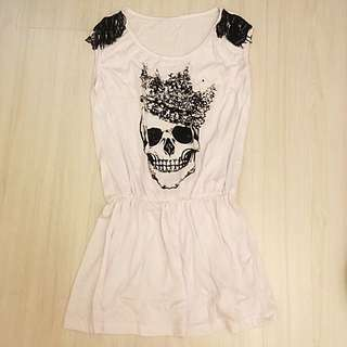 BN Skull Sleeveless Long Top