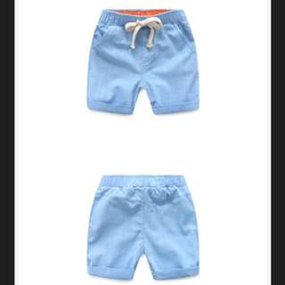 1-2 Yr Old Sky Blue Boys Soft Cotton Shorts