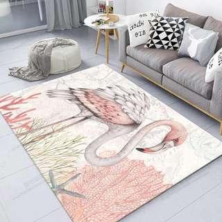 Flamingo Anti Slip Large Carpet