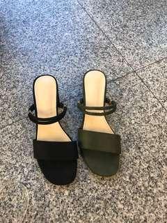 🚚 #女款粗跟涼鞋 😘2色35.36.37.38.39 👉👉特390