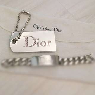 Authentic Dior Collectible Key Chain Bag Charm Tag