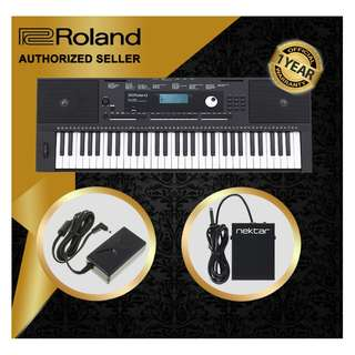 The Pianist Studio   Authorized Seller - Roland E-X20 61 Keys Arranger Keyboard Piano with Sustain Pedal Singapore Sale