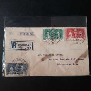 Ceylon 1937 First Day Cover
