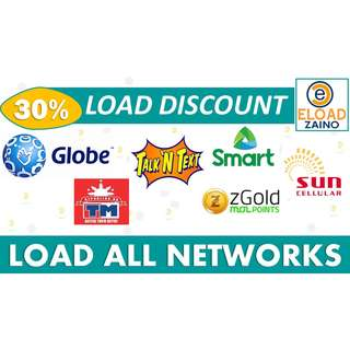 LOAD 30% DISCOUNT all networks