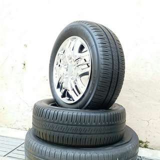 Used 185/60 R14 Michelin (2pcs) 🙋‍♂️