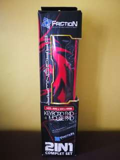 Friction 2合1 滑鼠+鍵盤墊 Mouse+Keyboard Pad (買一送一)
