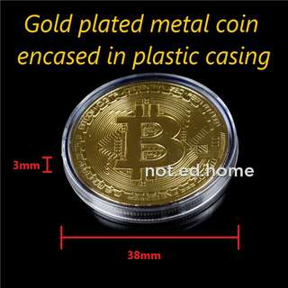 Bitcoin Gold Collectible Commemorative Coin