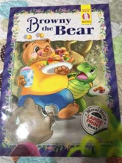 Browny The Bear Big Print Book